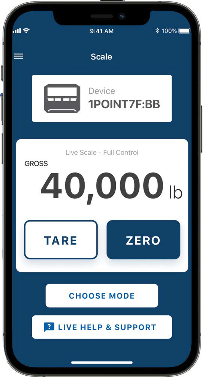 image of POINT mobile app